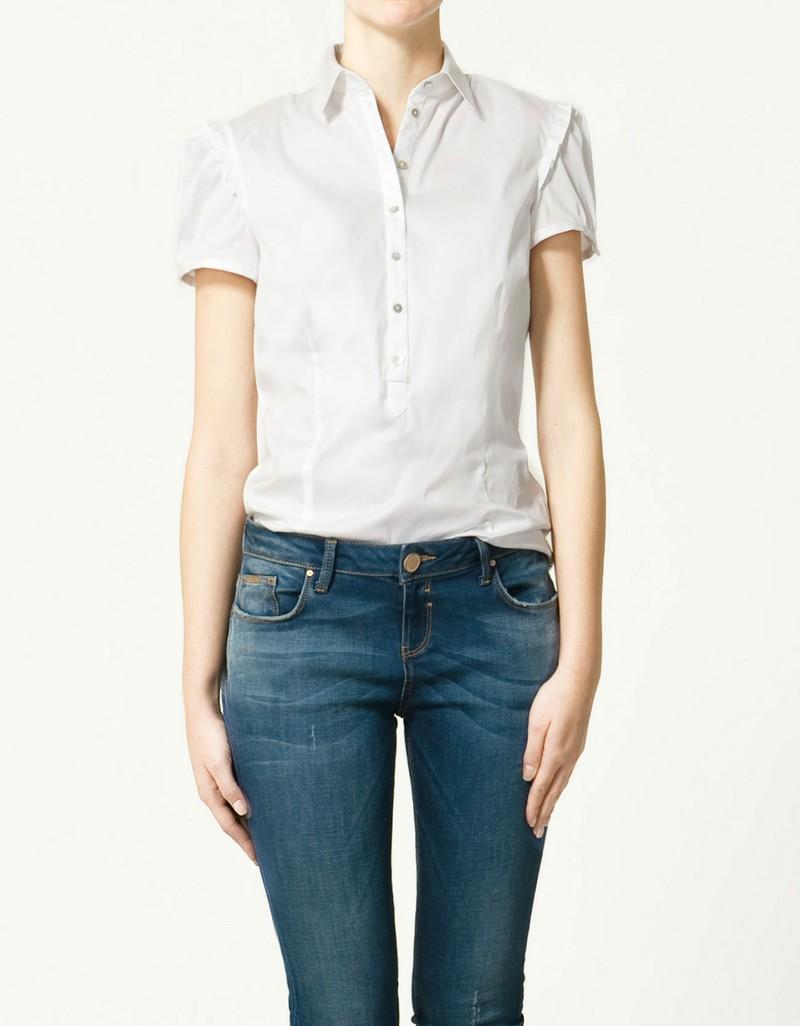 biała koszula ZARA - wiosenna kolekcja