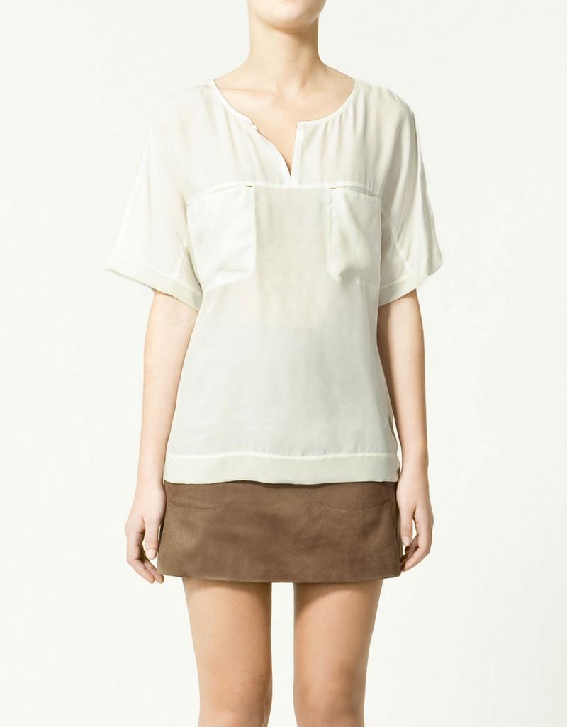 biała bluzka ZARA - lato 2011