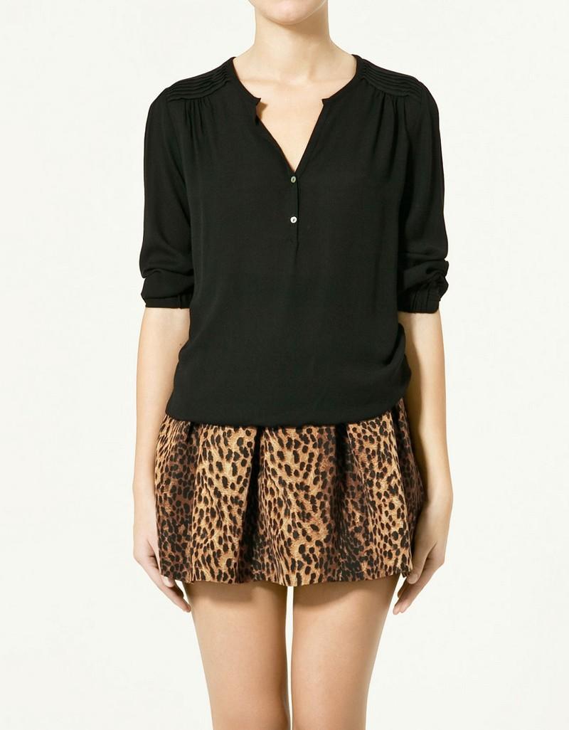 czarna bluzka ZARA - z kolekcji wiosna-lato 2011