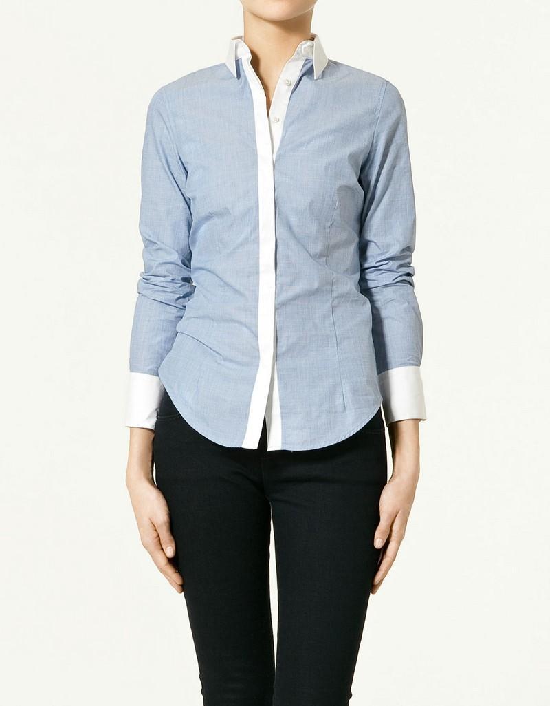 niebieska koszula ZARA - wiosenna kolekcja