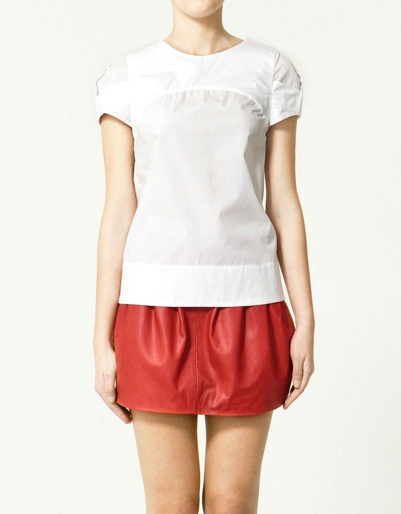 biała bluzka ZARA - z kolekcji wiosna-lato 2011