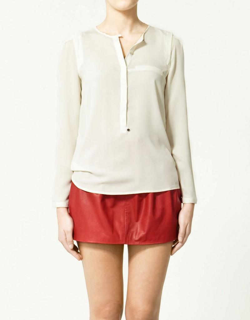 ecru bluzka ZARA - kolekcja wiosenna