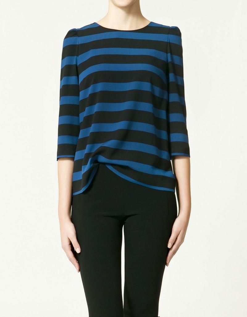 bluzka ZARA w paski - wiosenna kolekcja