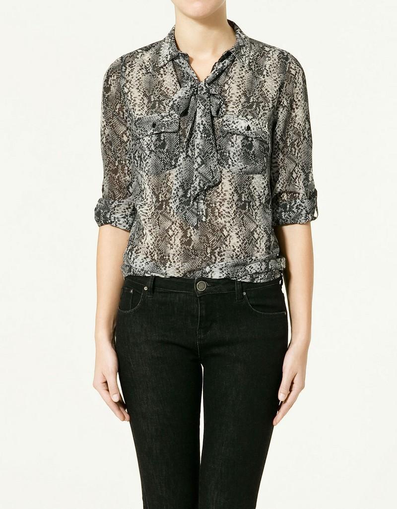 Bluzki - kolekcja wiosenno-letnia Zara 2011