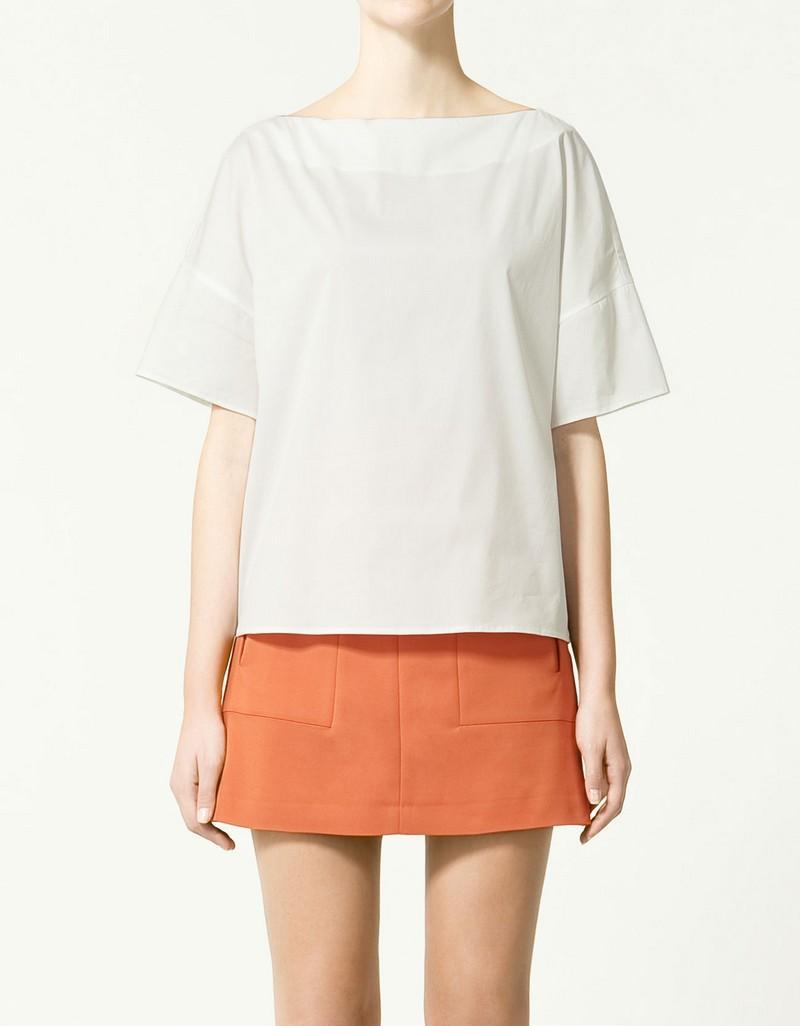 biała bluzka ZARA - wiosenna kolekcja