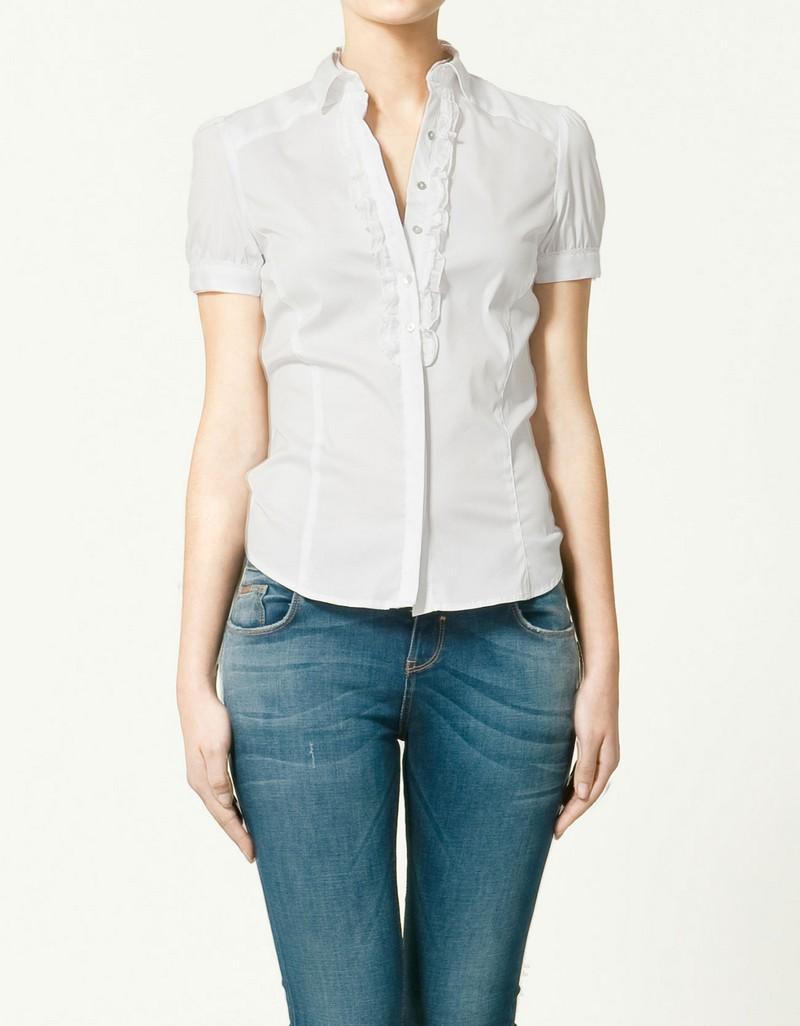 biała koszula ZARA - z kolekcji wiosna-lato 2011