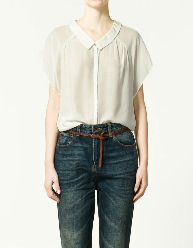 biała bluzka ZARA - moda 2011