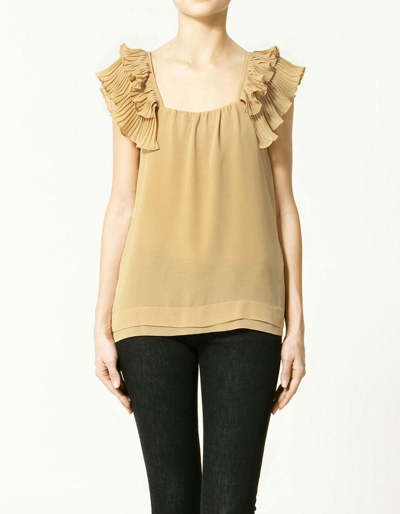 beżowa bluzka ZARA - lato 2011
