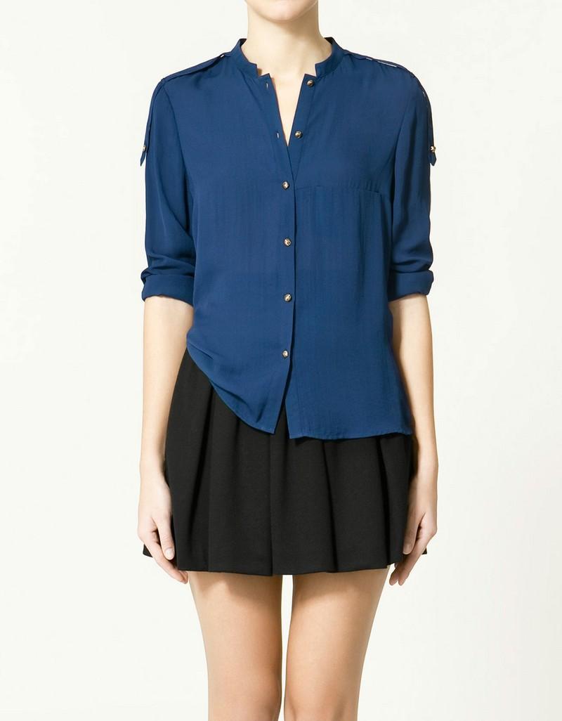 niebieska koszula ZARA - kolekcja wiosenna