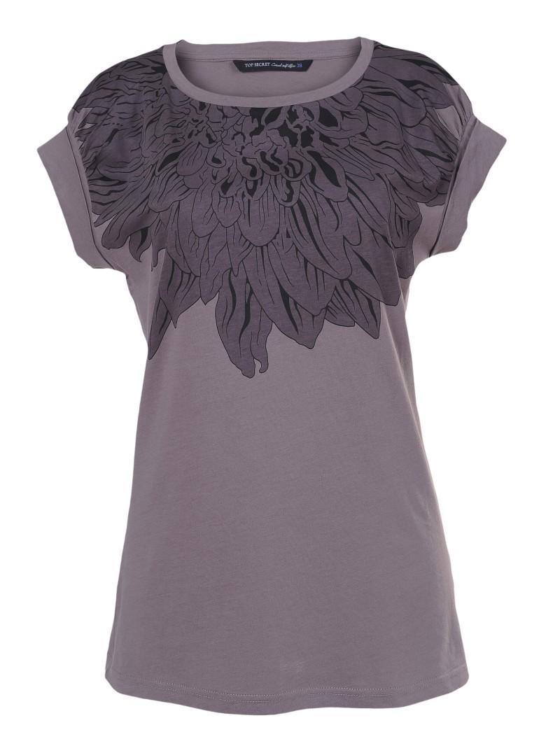 fioletowa bluzka Top Secret z aplikacją - moda wiosna/lato
