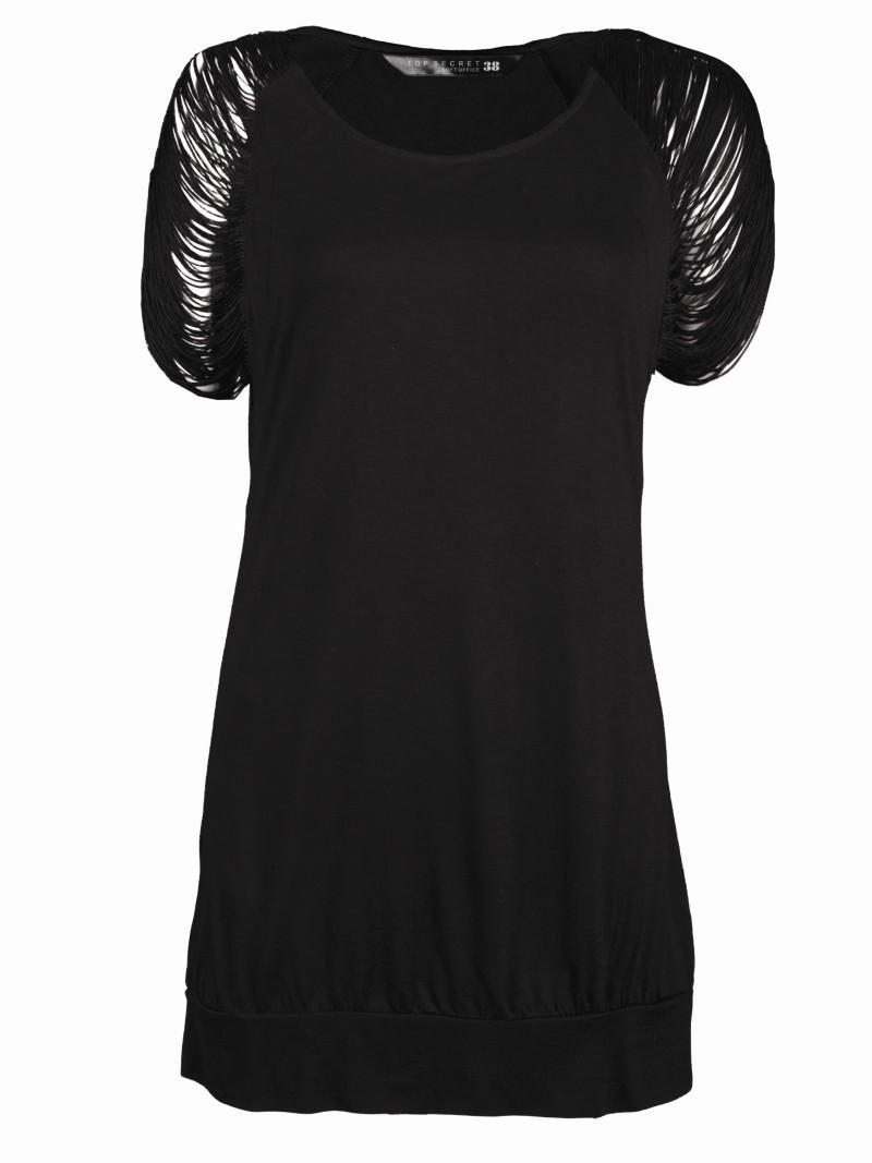 czarna bluzka Top Secret - moda 2011