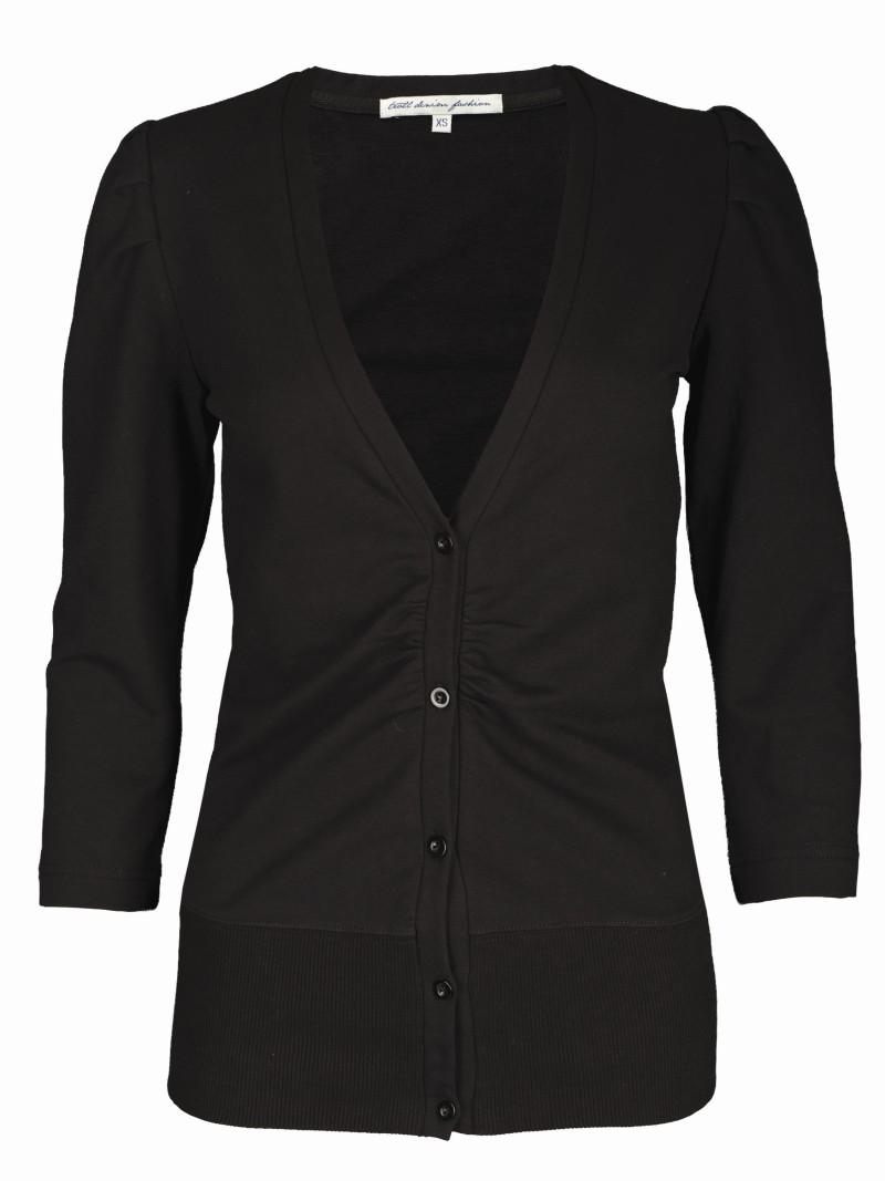 czarna bluzka Troll rozpinana - wiosna-lato 2011