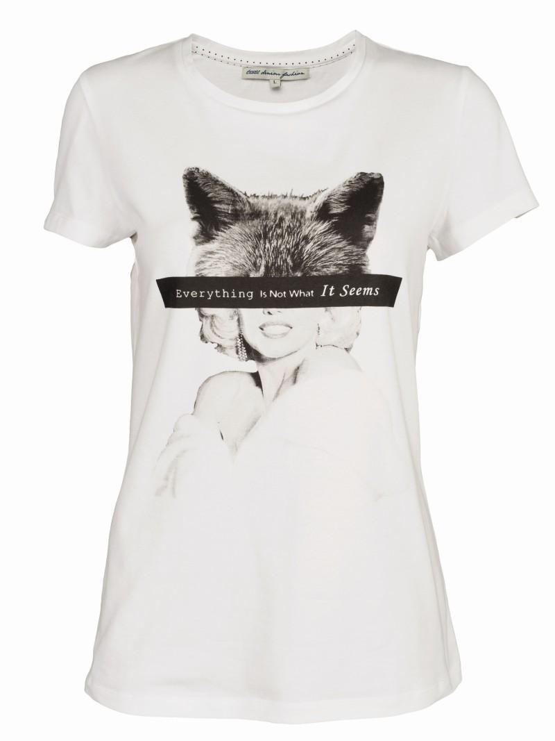 biała koszulka Troll z nadrukiem - wiosna/lato 2011