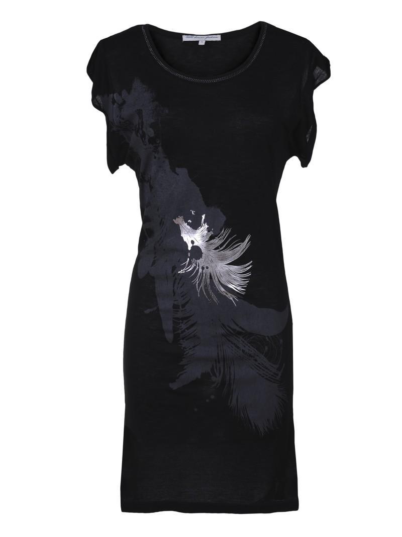 czarna bluzka Troll z aplikacją - lato 2011