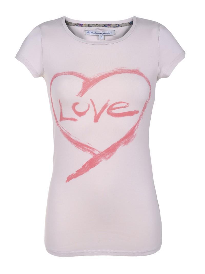 biały t-shirt Troll z aplikacją - wiosenna kolekcja