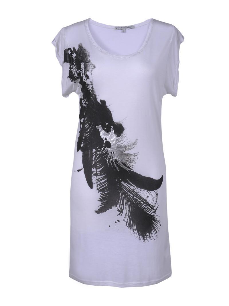 biała bluzka Troll z aplikacją - trendy wiosna-lato