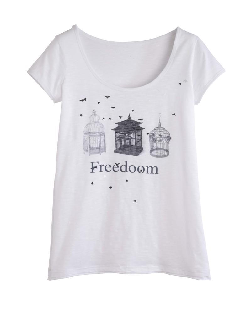 biała bluzka Camaieu - moda 2011