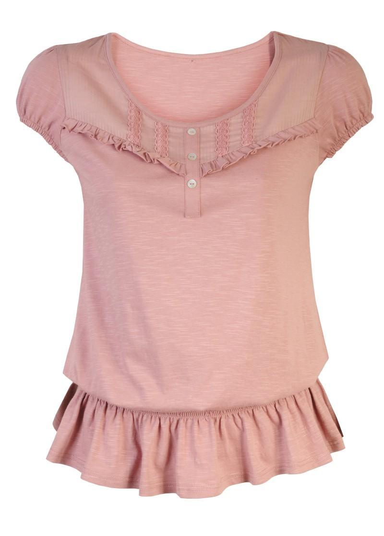 różowa bluzka Camaieu - moda 2011