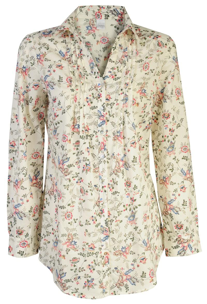 ecru bluzka Camaieu w kwiaty - moda 2011