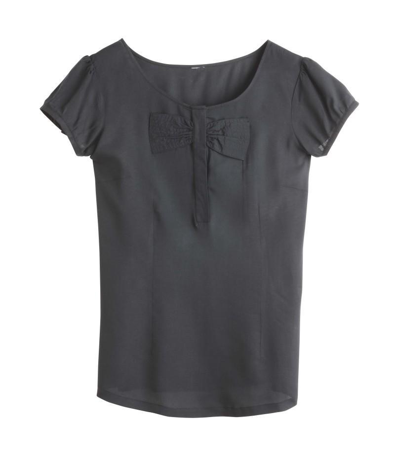 czarna bluzka Camaieu - moda 2011