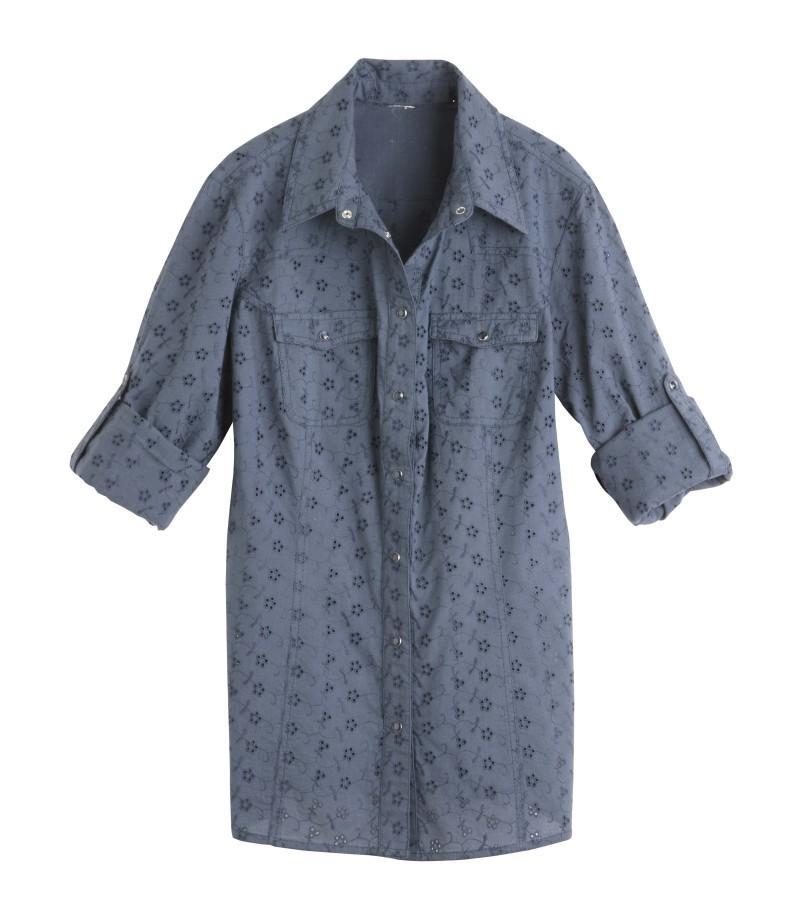 niebieska bluzka Camaieu - moda 2011