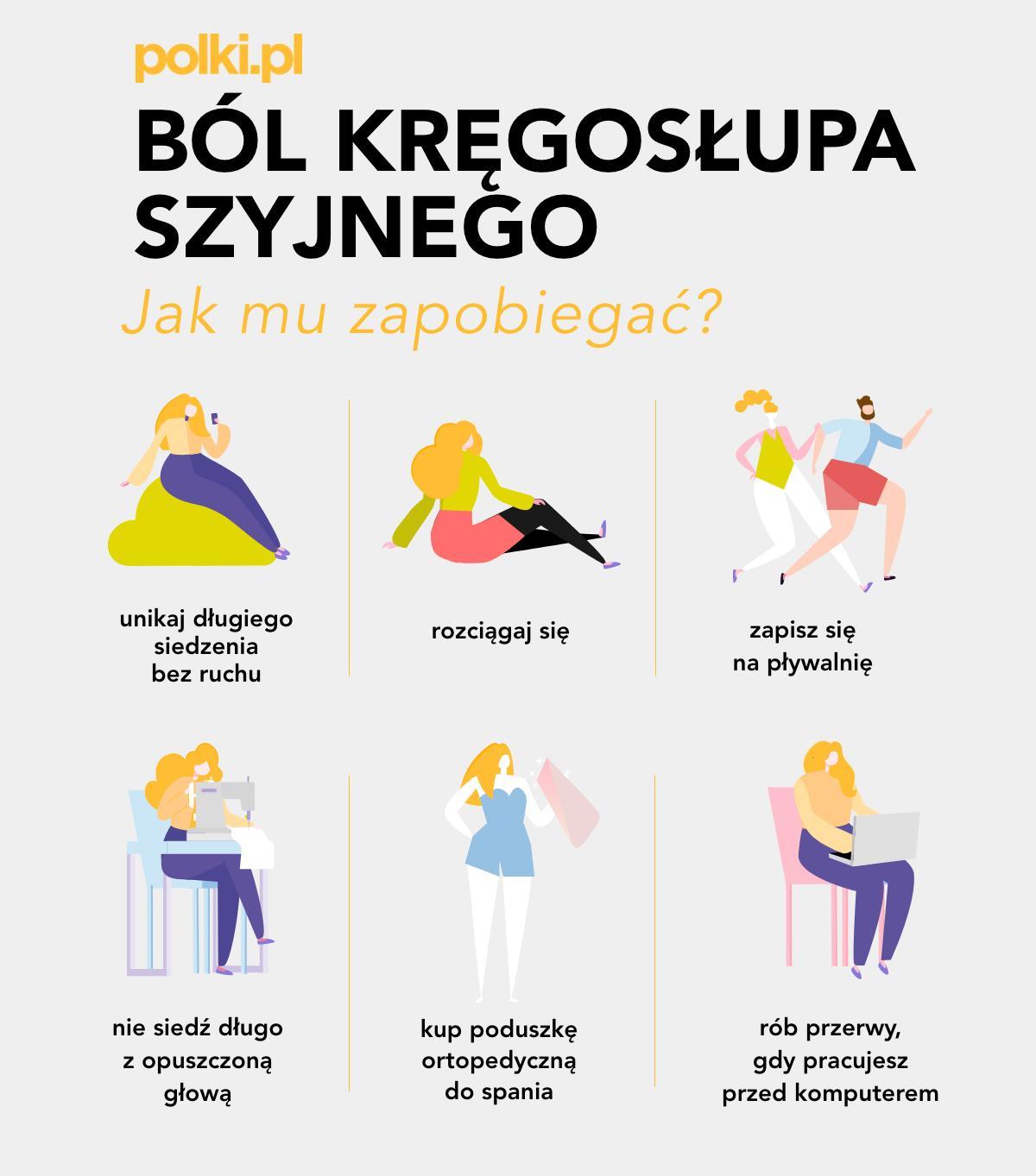 ból kręgosłupa szyjnego - zapobieganie