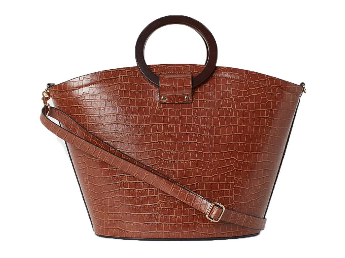 brązowa torebka krokodyli wzór H&M