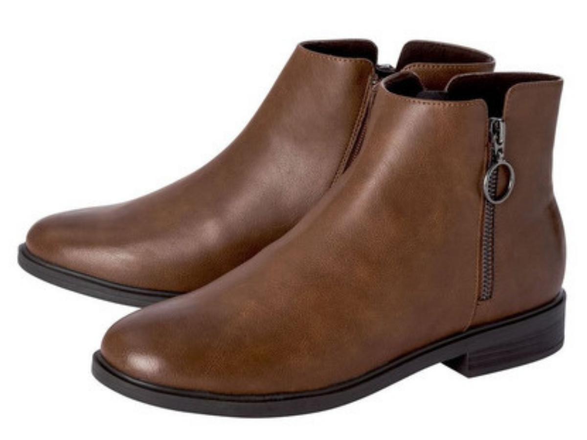 Brązowy buty na jesień Lidl