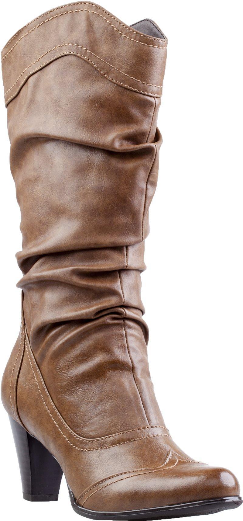 582f67614a91a Buty CCC na jesień i zimę 2012/13. modne kowbojki CCC w kolorze brązowym ...
