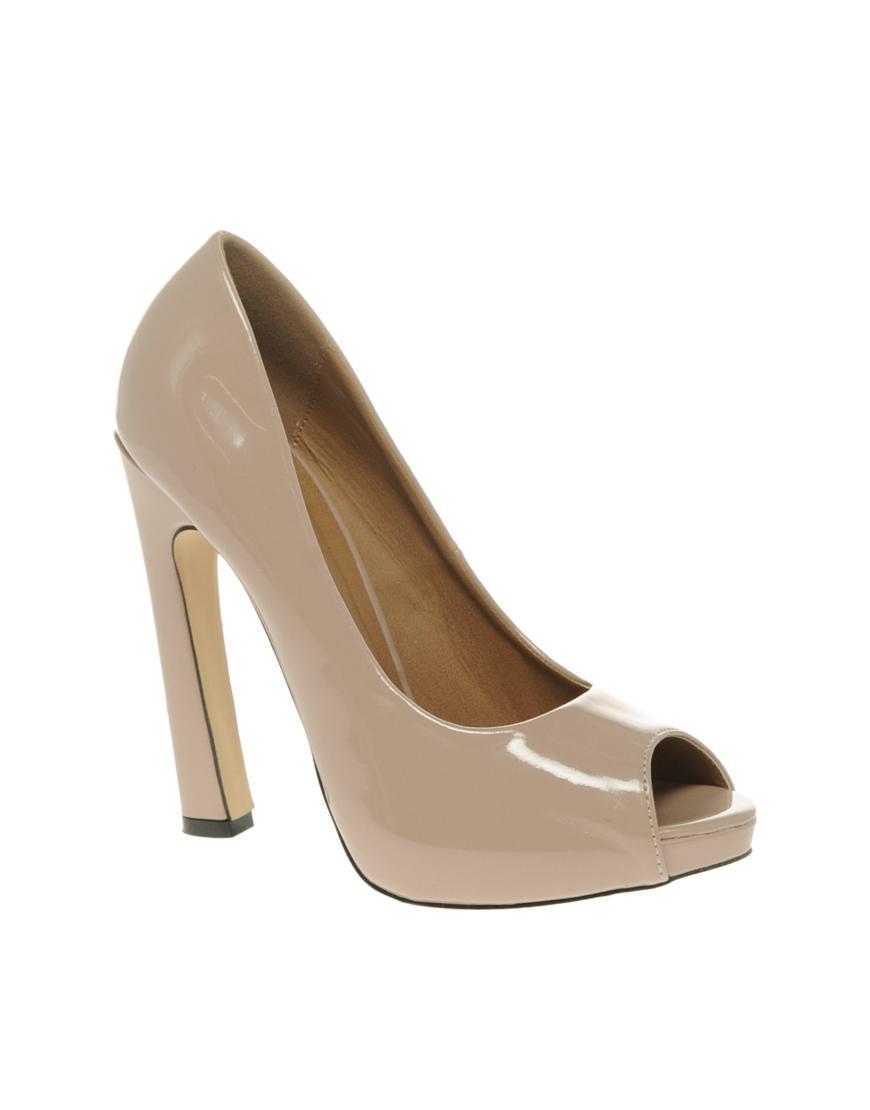 4f0708fc97291 beżowe peep toe ślubne Asos - Kremowe i beżowe buty ślubne - Suknie ...