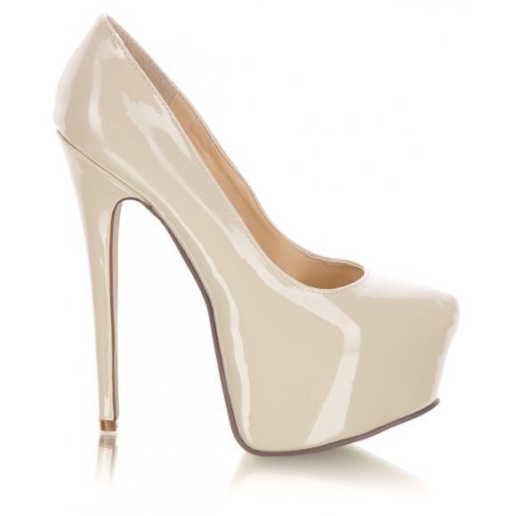 cee3ee04 beżowe buty ślubne DeeZee na platformie - Kremowe i beżowe buty ...