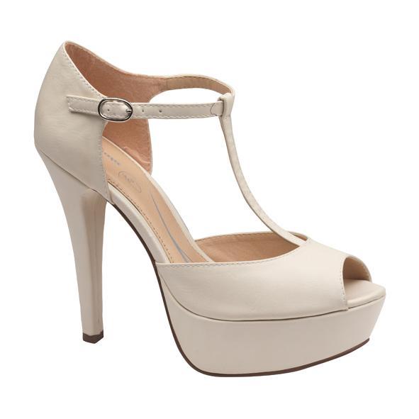 d8953d6b buty ślubne Bata z paskiem - Kremowe i beżowe buty ślubne - Suknie ...