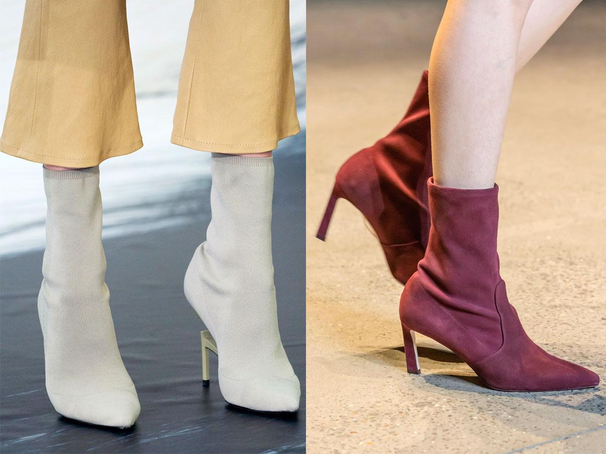 Buty na jesień-zimę: skarpetkowe botki