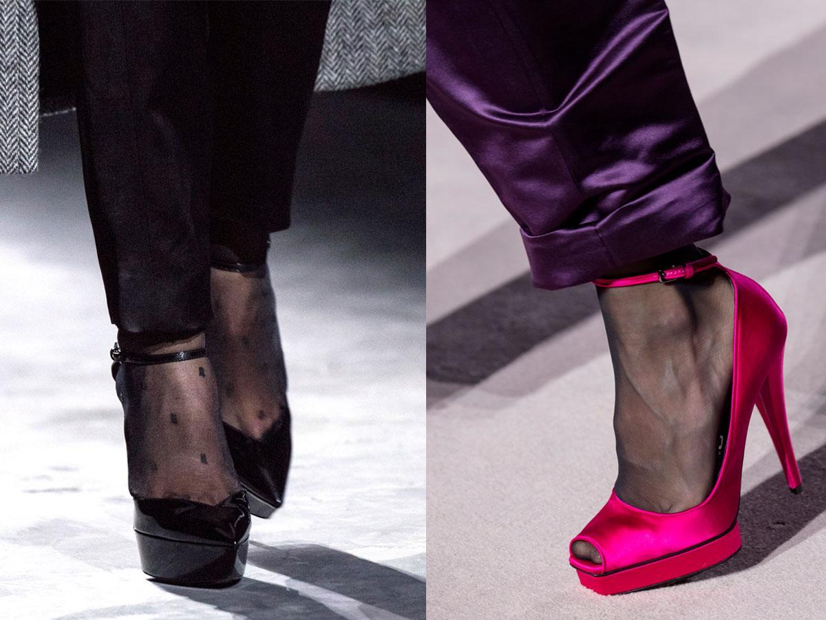 Buty na jesień i zimę 2019: szpilki na platformie