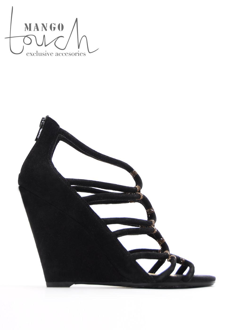 czarne sandały Mango - lato 2011