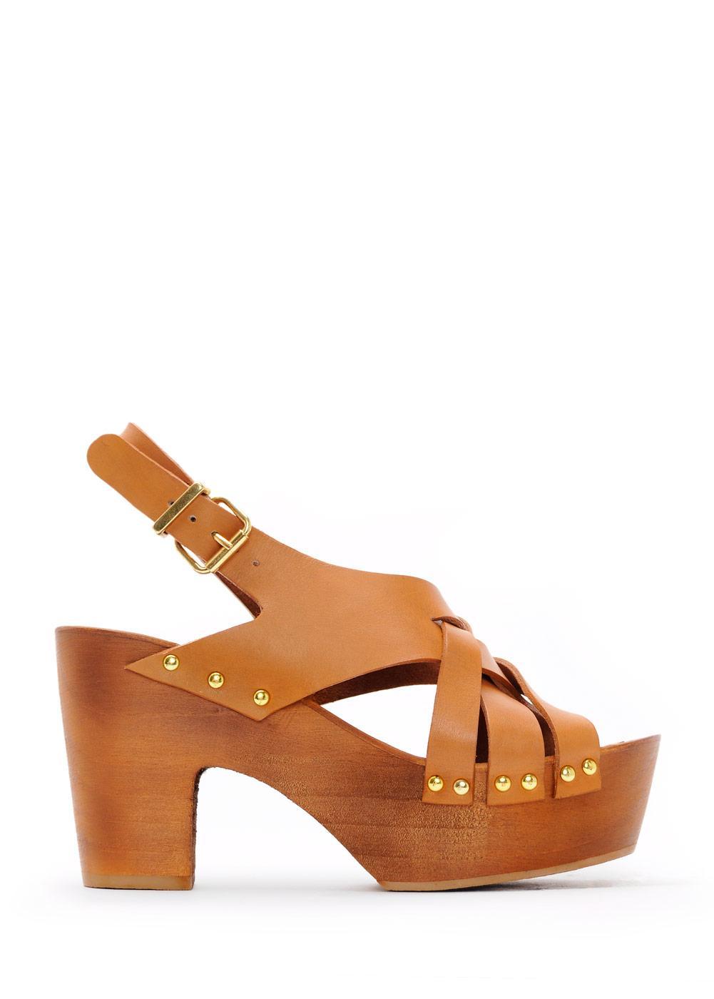 brązowe sandały Mango - lato 2011