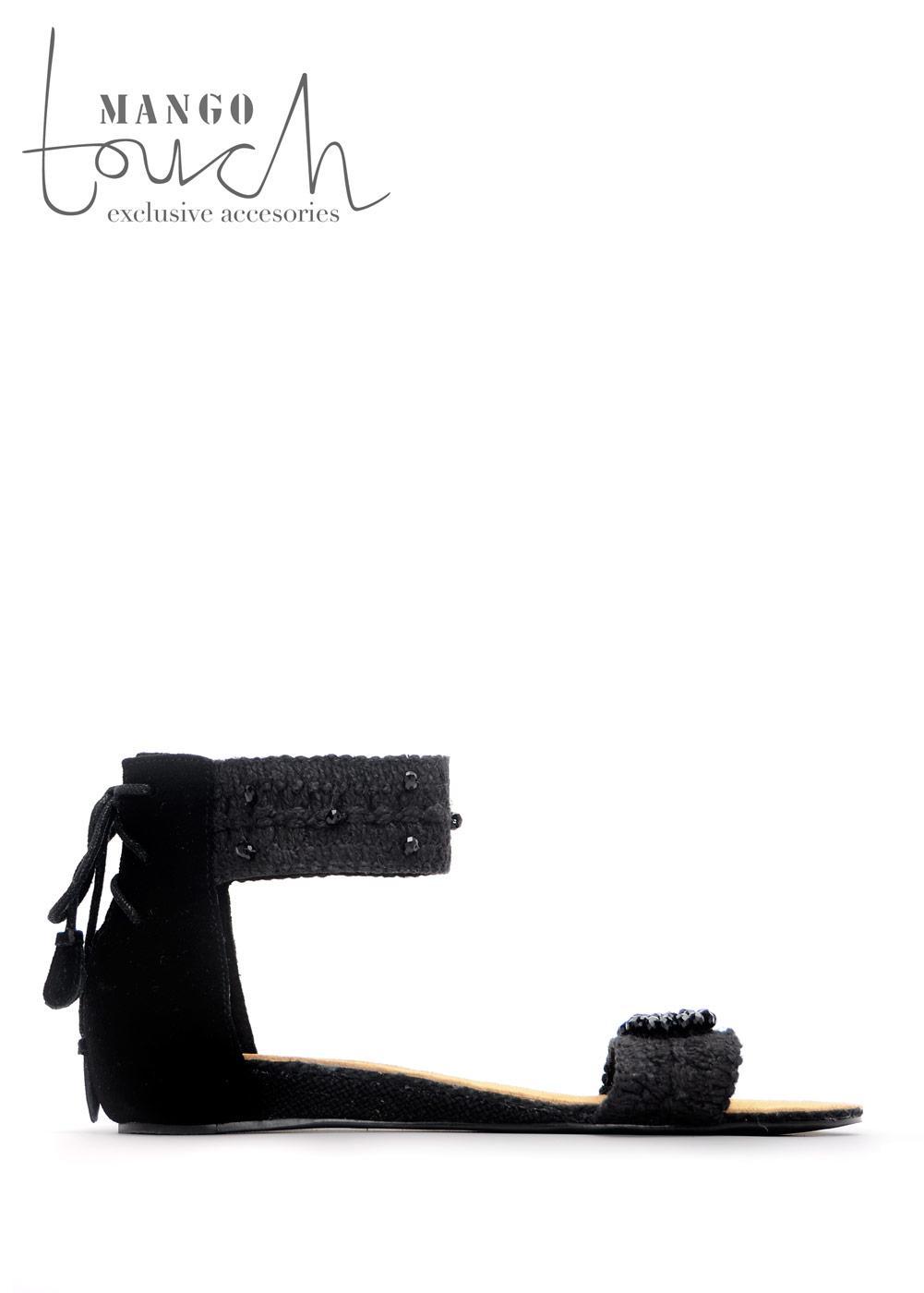 czarne sandały Mango - moda 2011