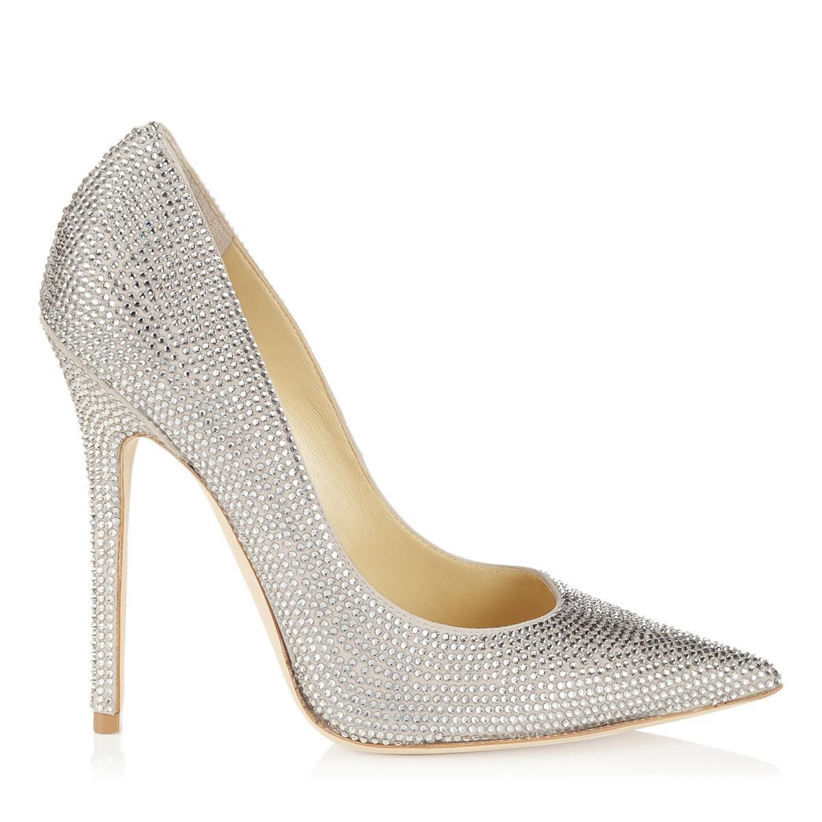 d8c0195c srebrne buty ślubne Jimmy Choo z kryształkami - Buty ślubne Jimmy ...