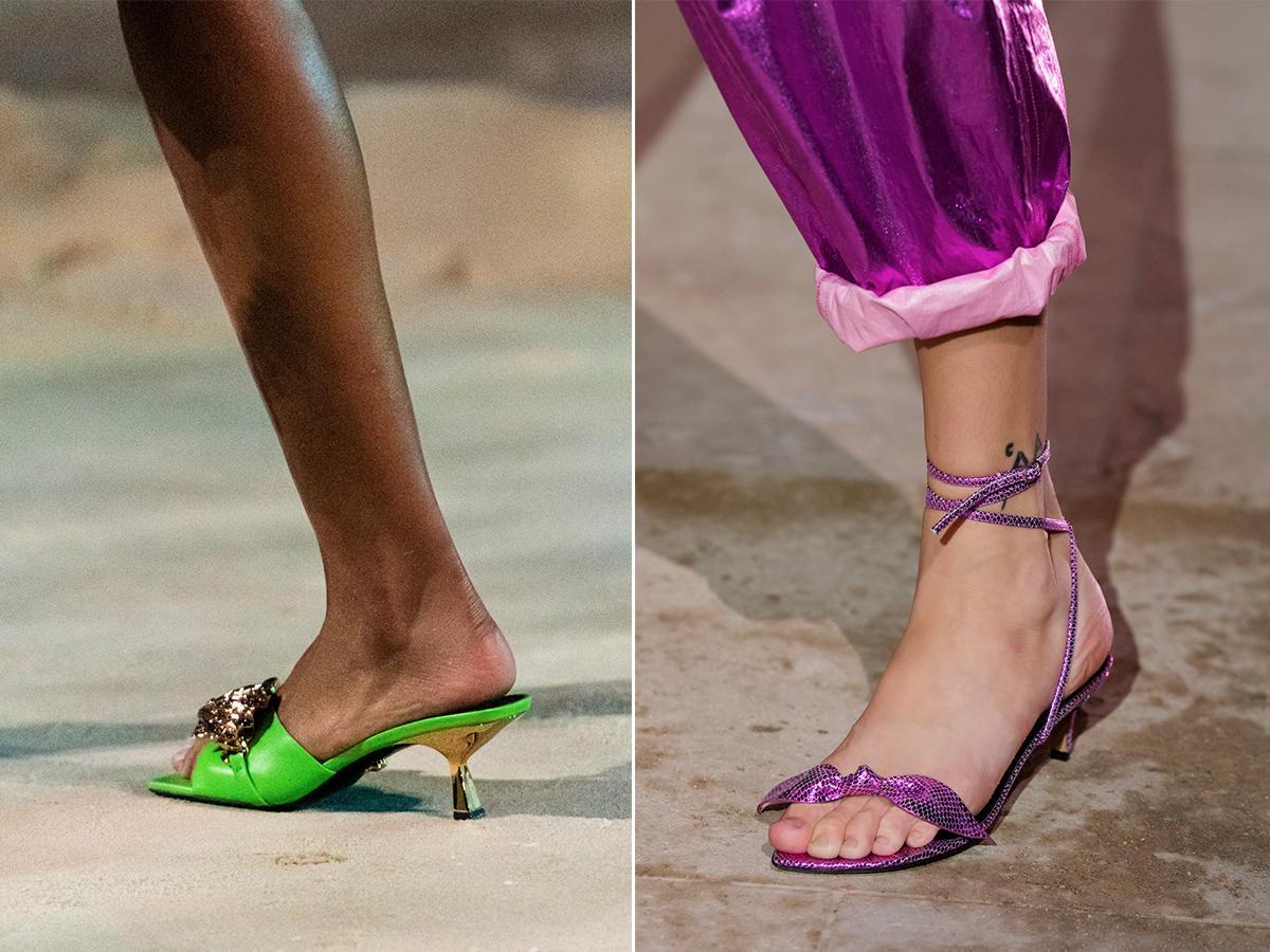 buty na obcasie typu kaczuszka wiosna 2021