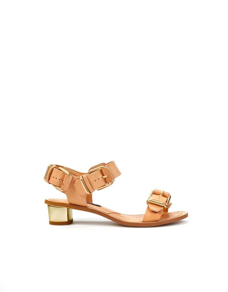 beżowe sandały ZARA - letnia kolekcja