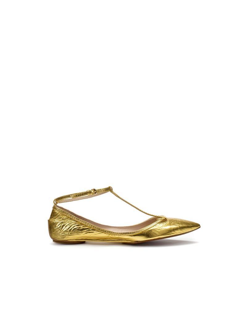 złote baleriny ZARA - kolekcja wiosenno/letnia