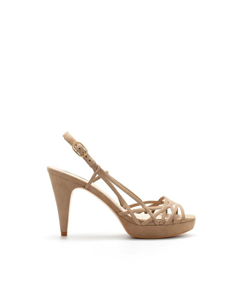 beżowe sandały ZARA - wiosna-lato 2011