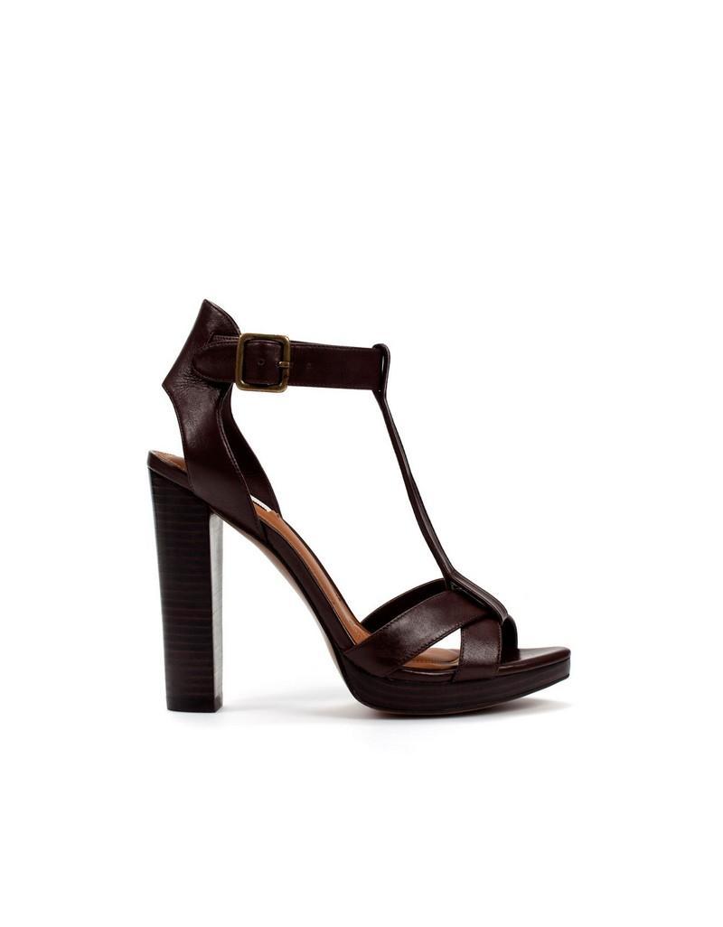brązowe sandały ZARA - letnia kolekcja