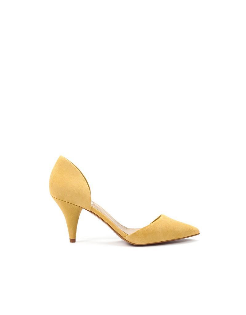 żółte pantofle ZARA - wiosenna kolekcja