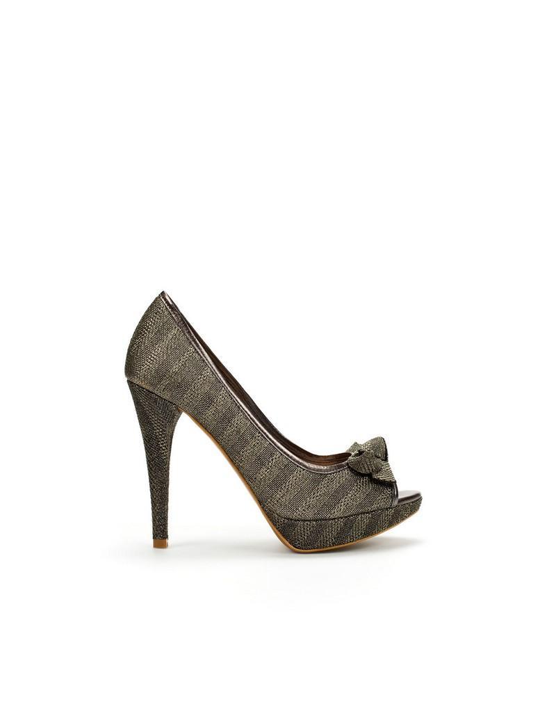 popielate pantofle ZARA - kolekcja wiosenno/letnia