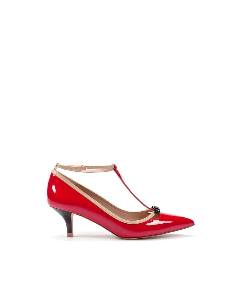 czerwone pantofle ZARA - moda wiosna/lato