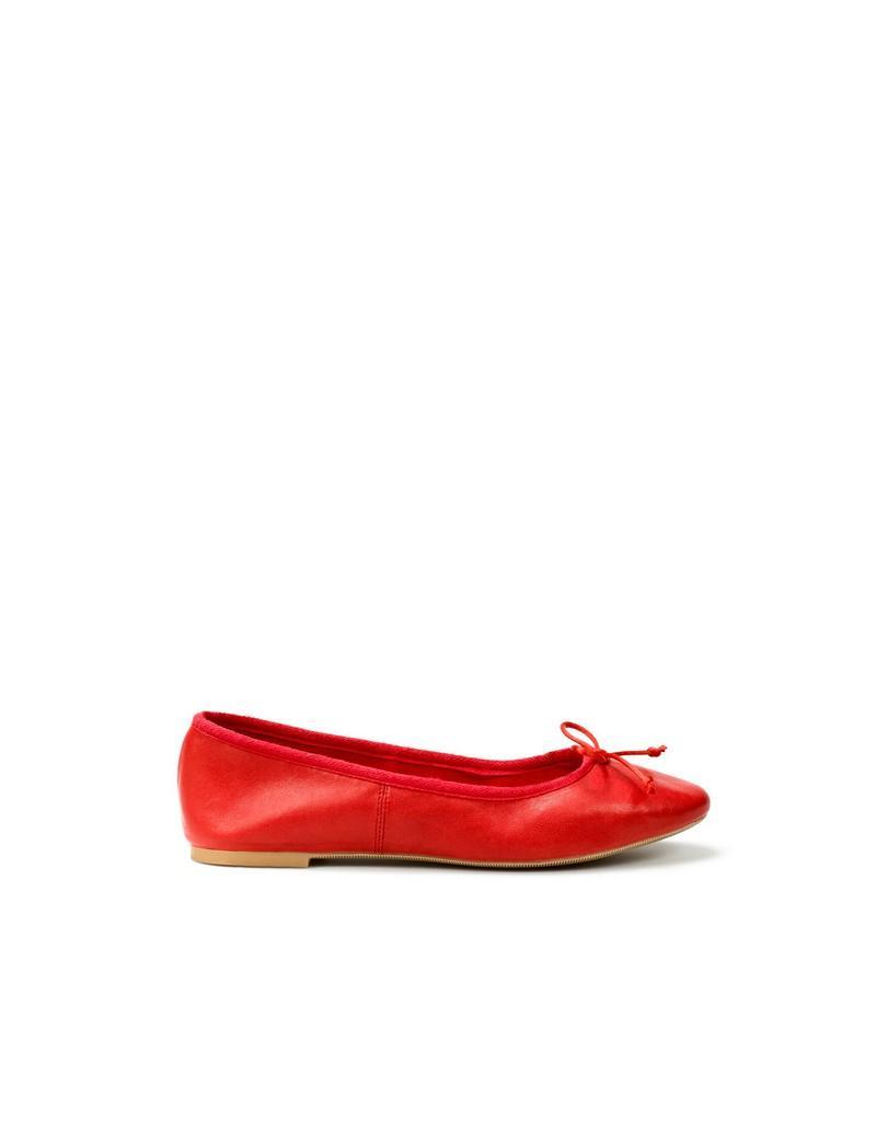 czerwone baleriny ZARA - moda wiosna/lato