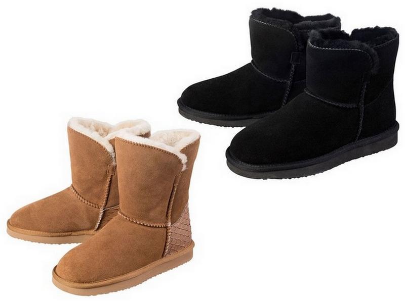 buty ze skóry jagnięcej z Lidla