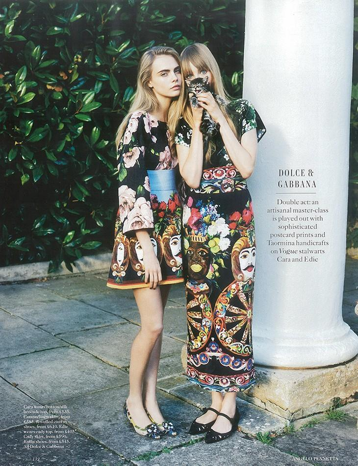 British Vogue luty 2013 - Cara Delevingne