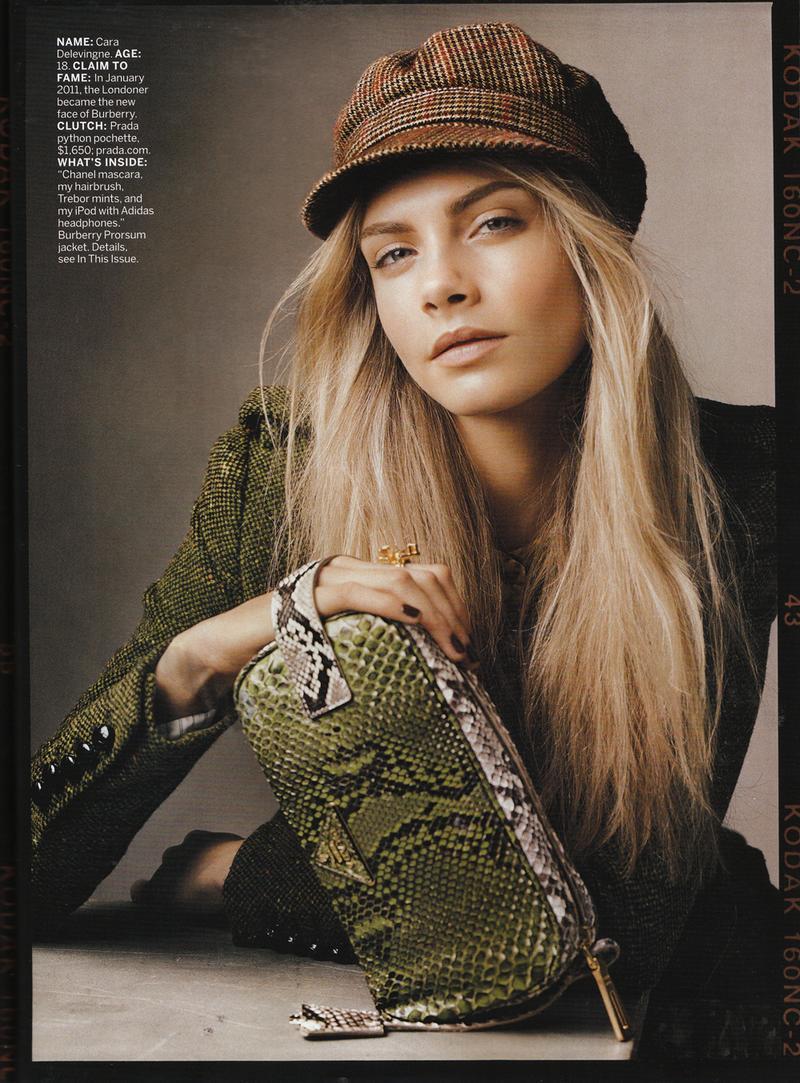 American Vogue lipiec 2011 - Cara Delevingne